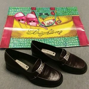 NWOT Brighton Shoes Sabina Leather  Loafers 6M